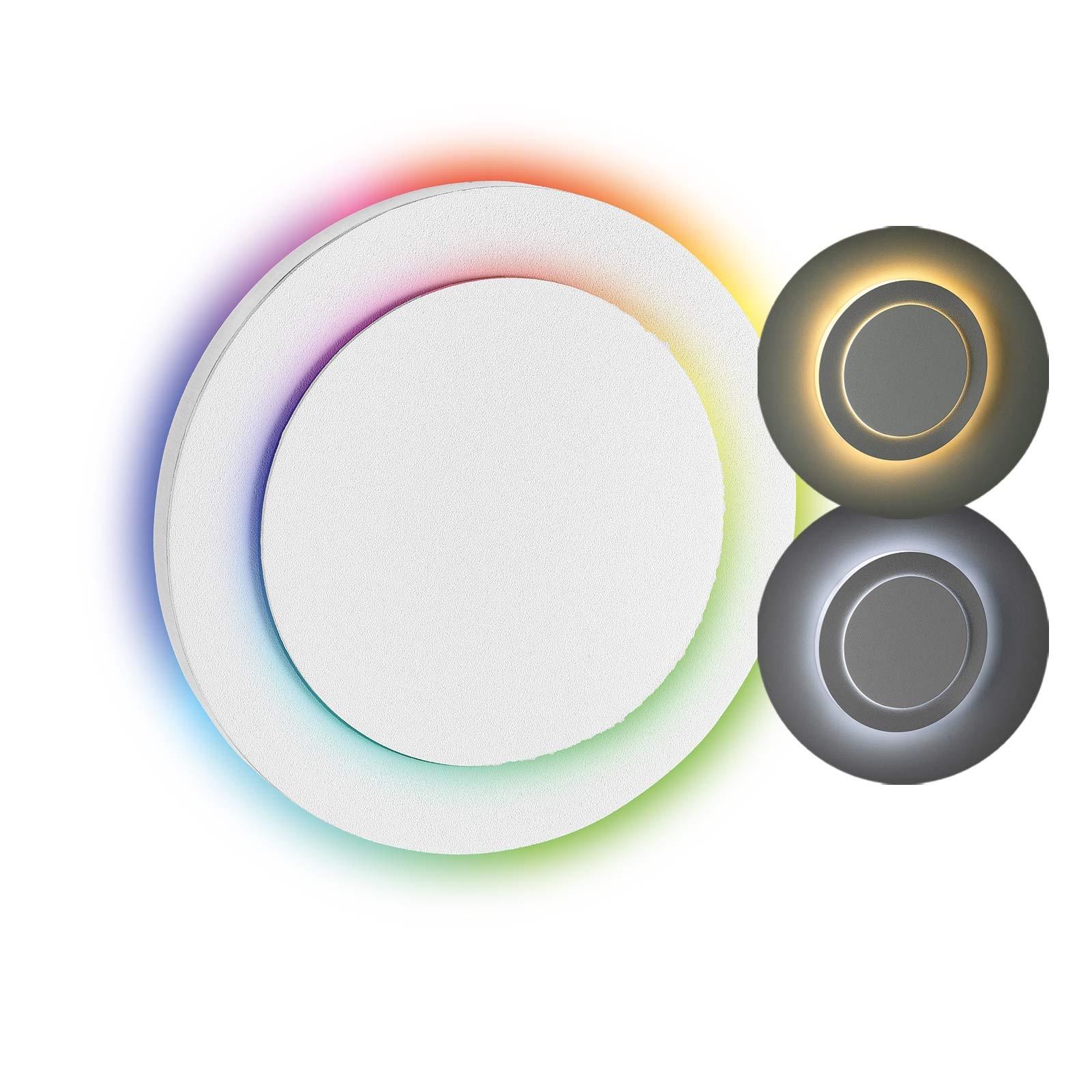 LED Stufenbeleuchtung Oberteil rund, weiß | Seitlicher Lichtaustritt doppelt