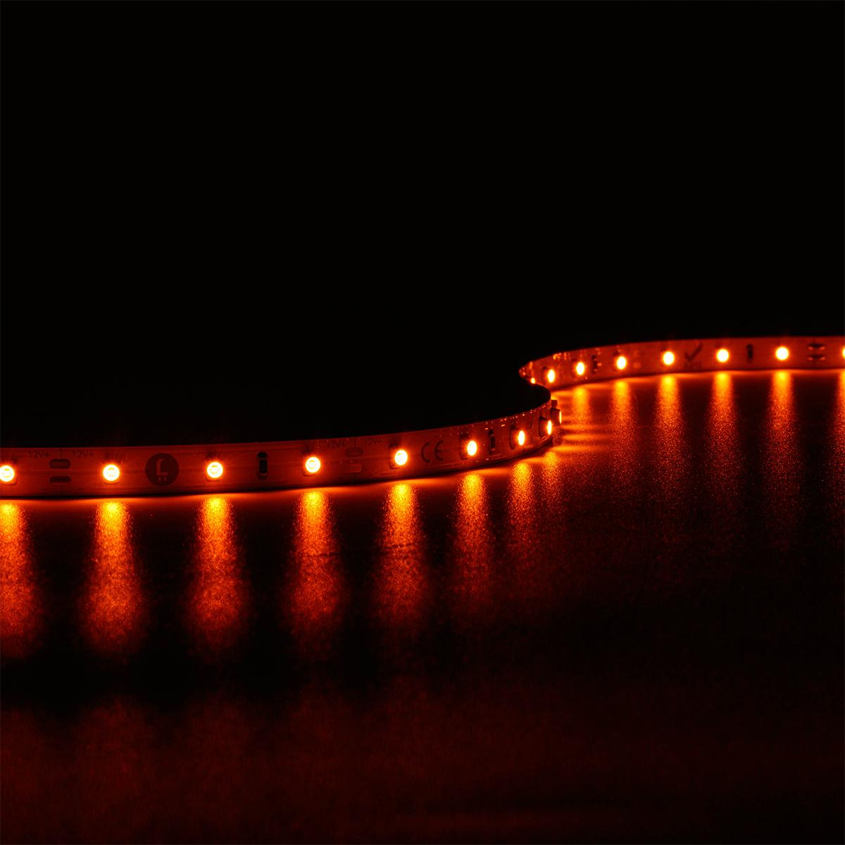 Strip Amber Bernstein 12V LED Streifen 4,8W/m 60LED/m IP20 2300K