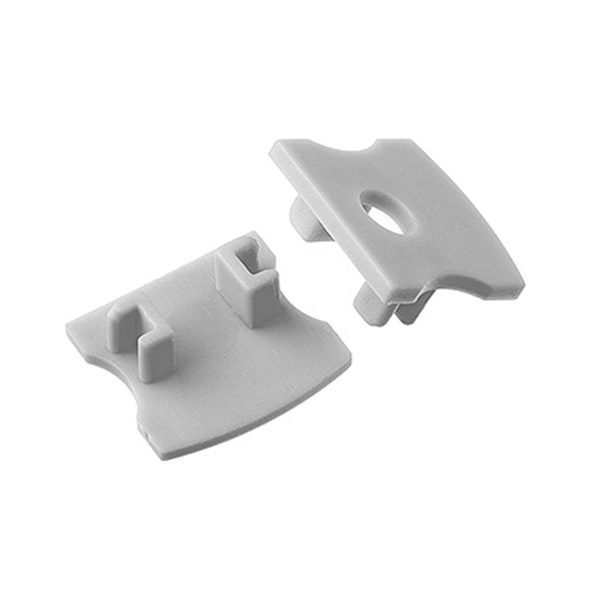 1 Paar Endkappen für Aufbau U-Profil 17x14mm (4276)