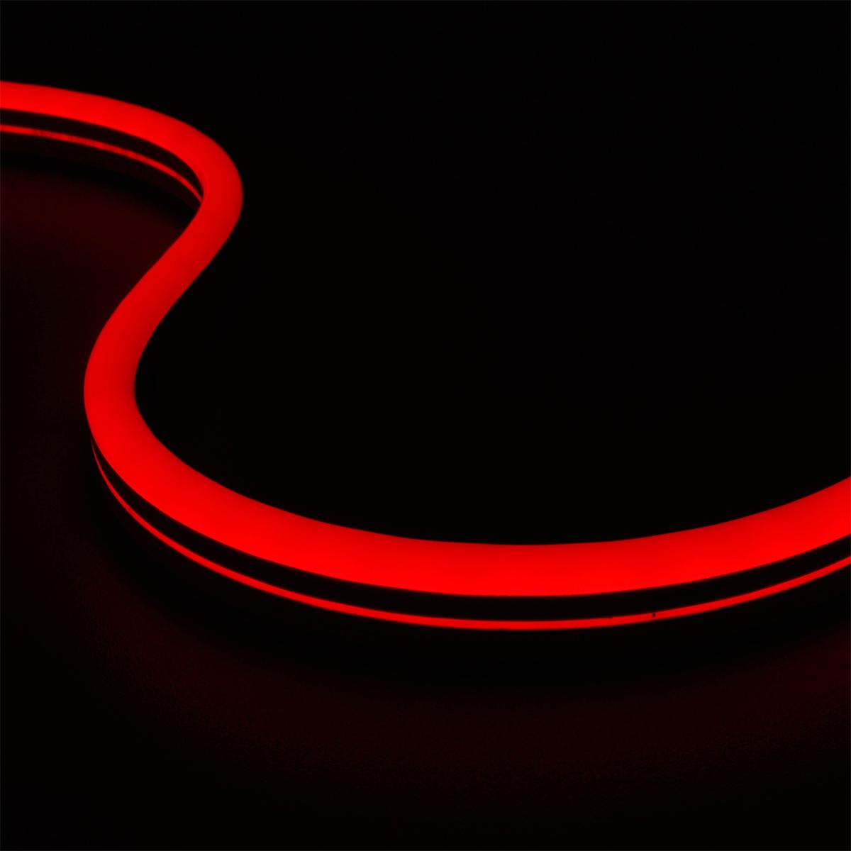 Neon Rot 24V LED Streifen 5M 10W/m 84LED/m 7mm IP65