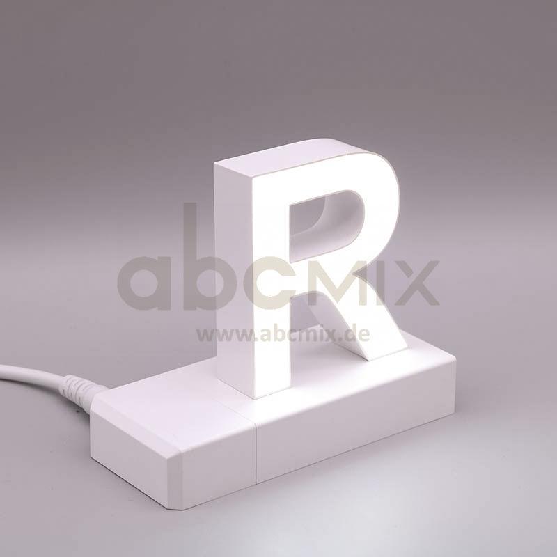 Leuchtbuchstabe EasyClick R 75mm Arial 4000K weiß