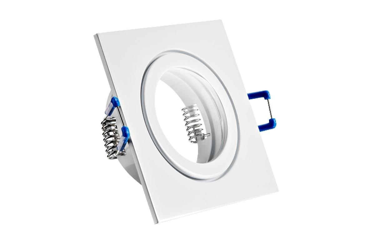 Einbaurahmen weiß viereckig 90x90mm