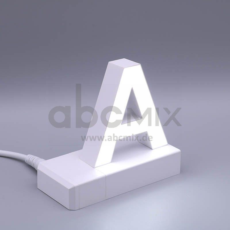 LED Buchstabe Klick A 75mm Arial 6500K weiß