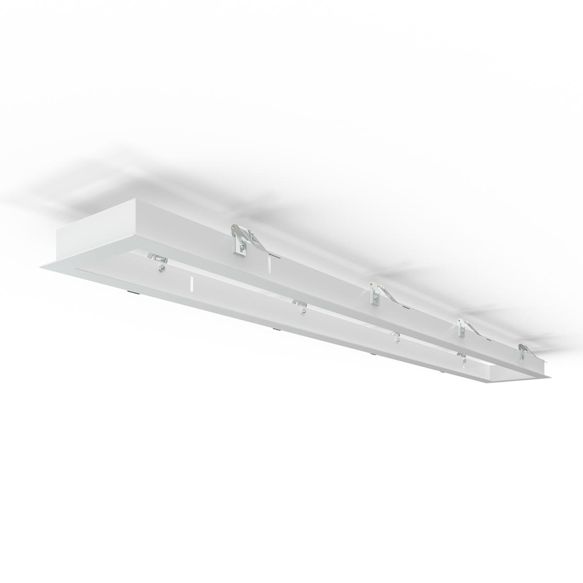 LED Panel Einbaurahmen 120x15cm weiß Deckeneinbau Montagerahmen für Rigipskartondecke