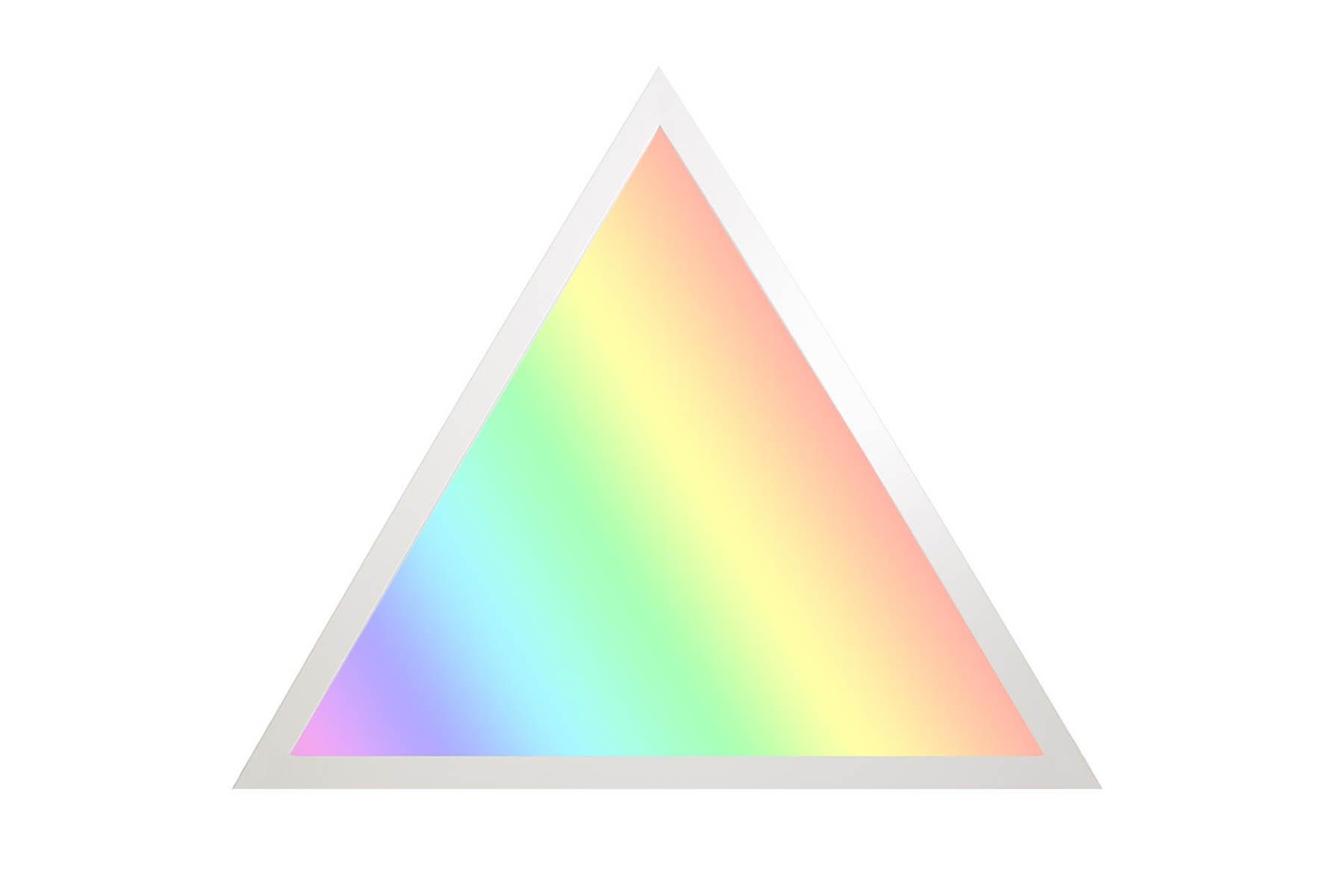 RGB+CCT LED Panel Dreieck 60cm 36W 24V Rahmen weiß