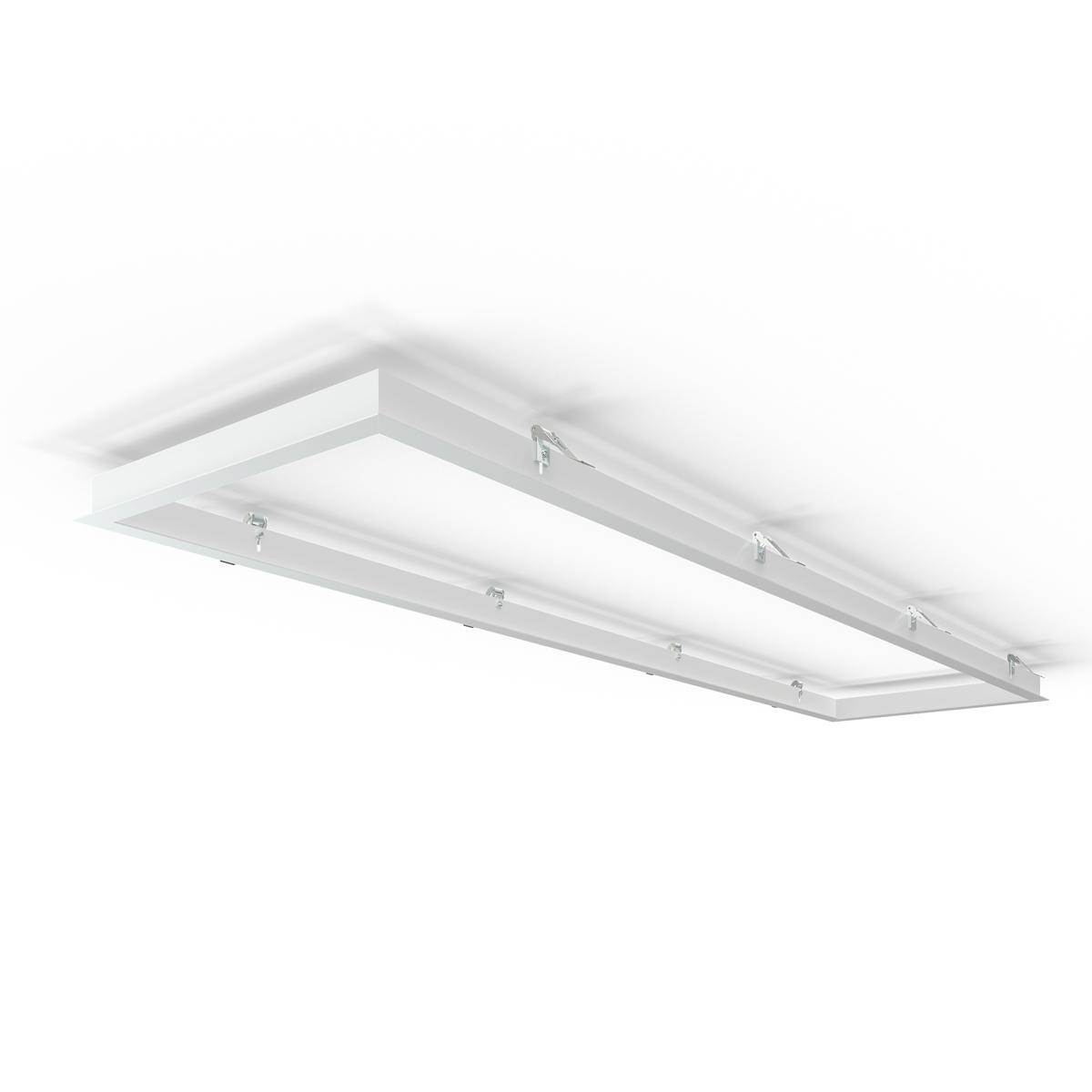 LED Panel Einbaurahmen 160x40cm weiß Deckeneinbau Montagerahmen für Rigipskartondecke
