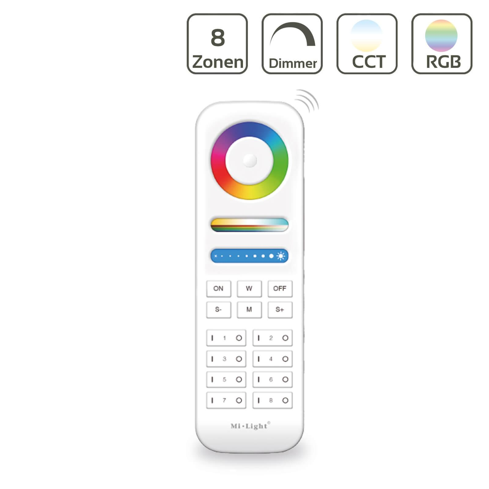 MiBoxer RGB+CCT Fernbedienung 8 Zonen Dimmen Schalten Farbsteuerung FUT089