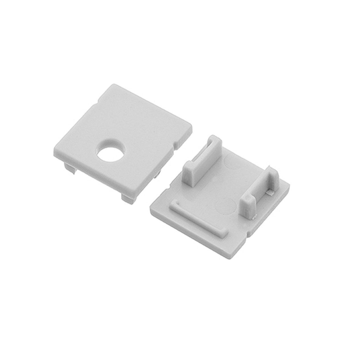 1 Paar Endkappen für Aufbau U-Profil 14 x 15mm (4294)