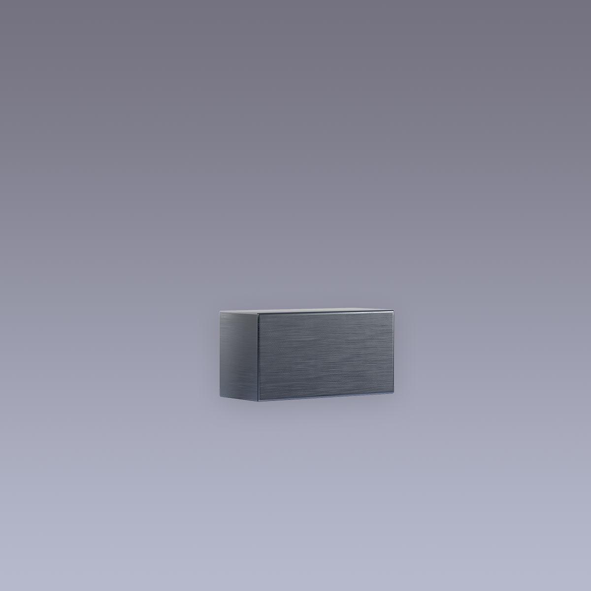 3D Hausnummer - Bindestrich Edelstahl anthrazit RAL7016 in 3D Design Arial