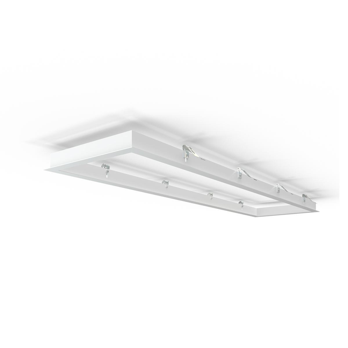 LED Panel Einbaurahmen 120x30cm weiß Deckeneinbau Montagerahmen für Rigipskartondecke