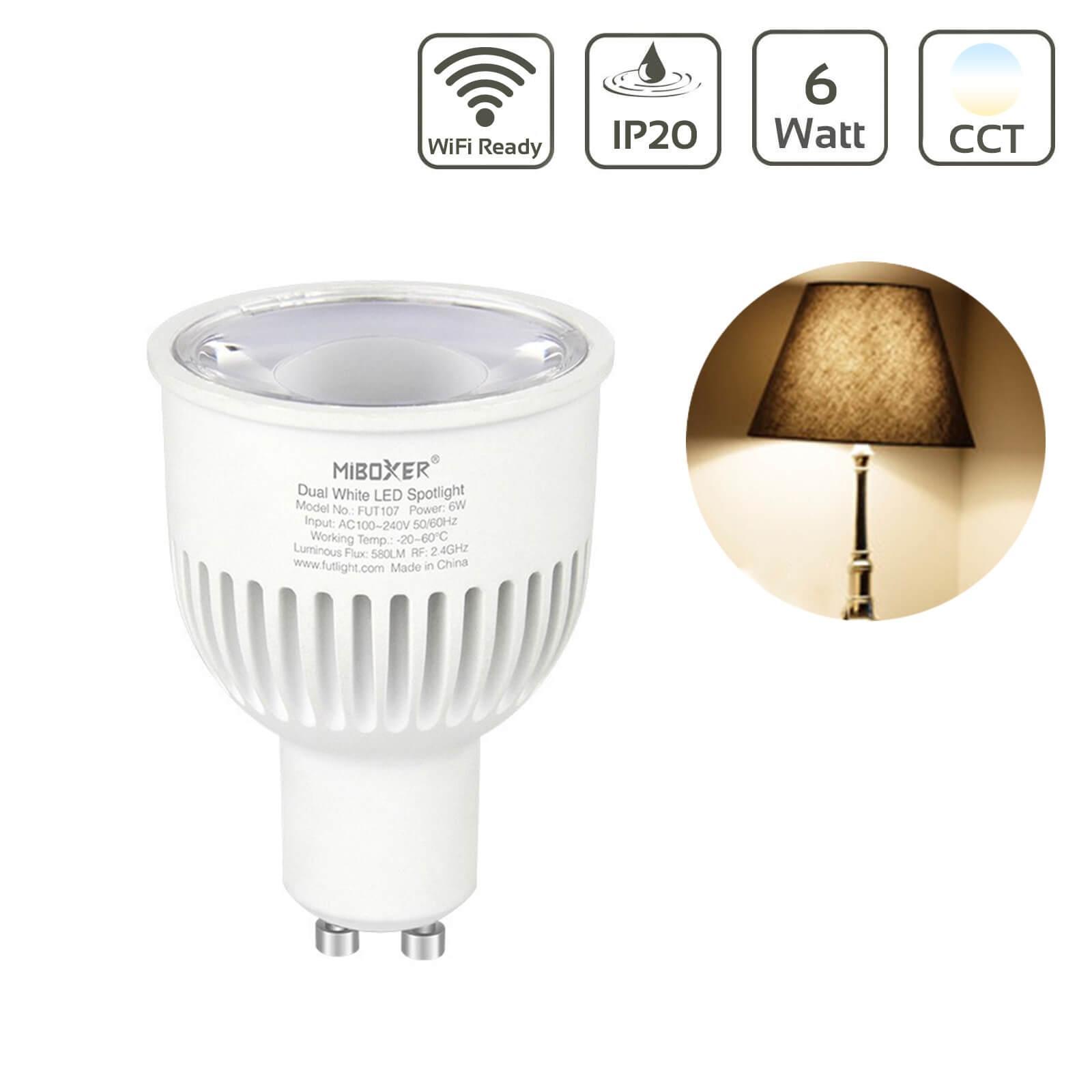 MiBoxer CCT LED Spot 6W GU10 Wifi ready FUT107