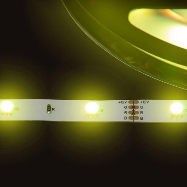 Strip RGB 12V LED Streifen 5M 7,2W/m 30LED/m 10mm IP20 Farbwechsel