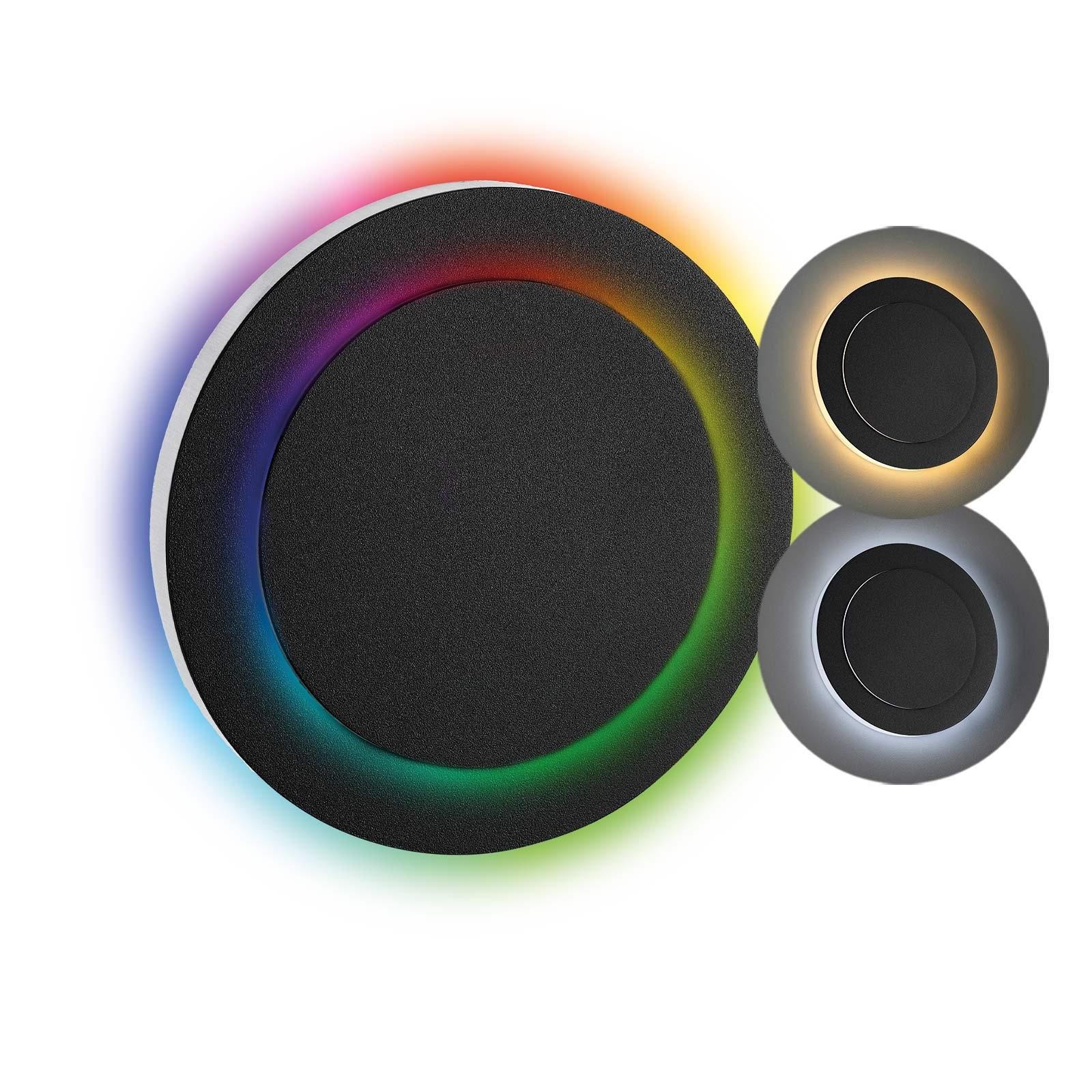 LED Stufenbeleuchtung Oberteil rund, anthrazit | Seitlicher Lichtaustritt doppelt