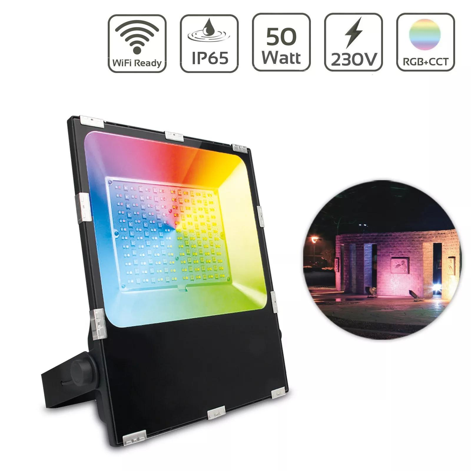 MiBoxer 50W RGB+CCT LED Außenstrahler WiFi Farbwechsel Fluter FUTT02