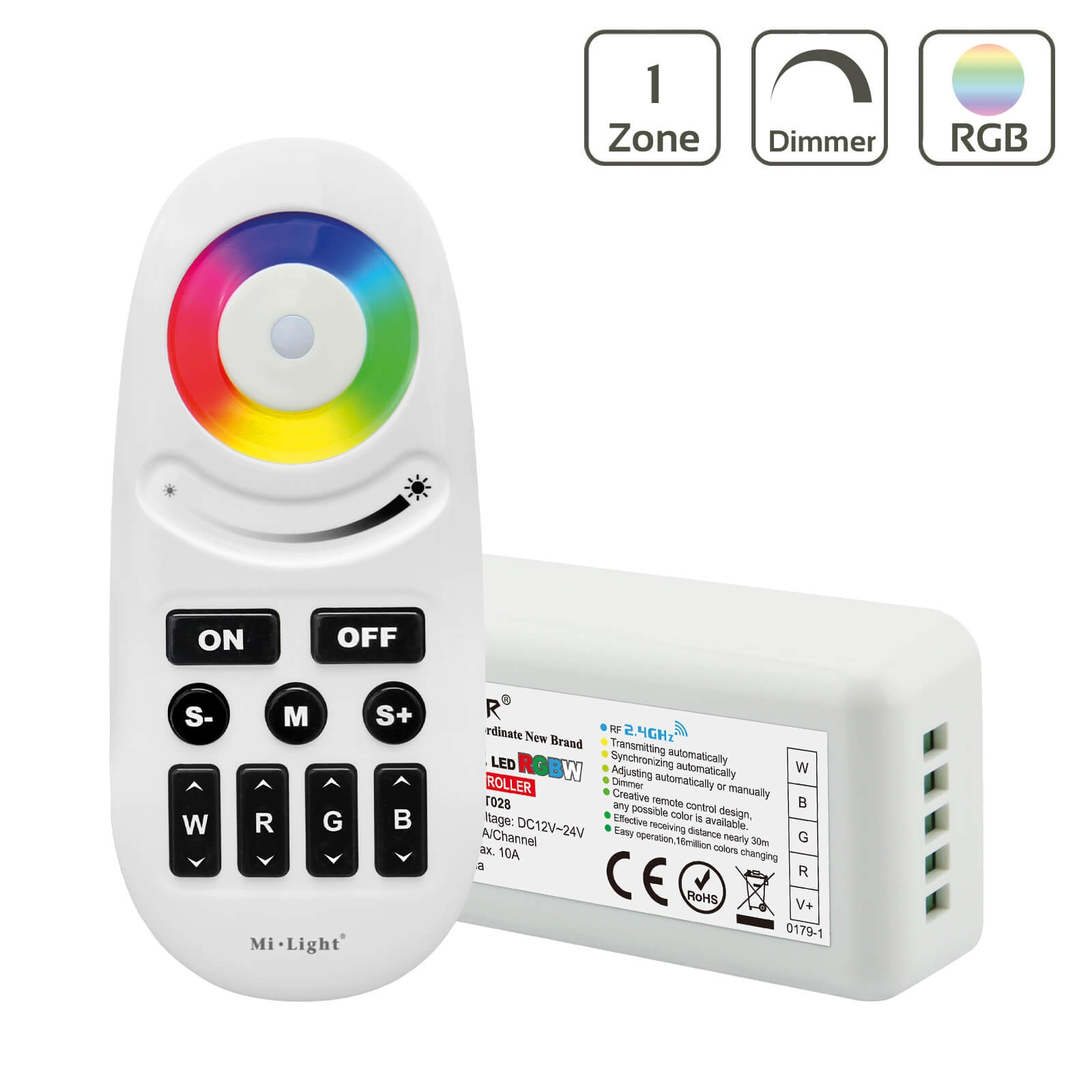 MiBoxer Set Controller & Fernbedienung RGBW | WiFi ready | Dimmen Schalten Farbsteuerung