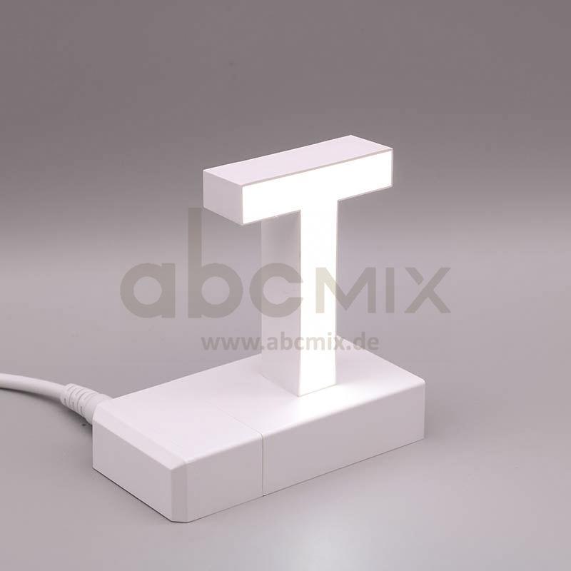 Leuchtbuchstabe EasyClick T 75mm Arial 4000K weiß