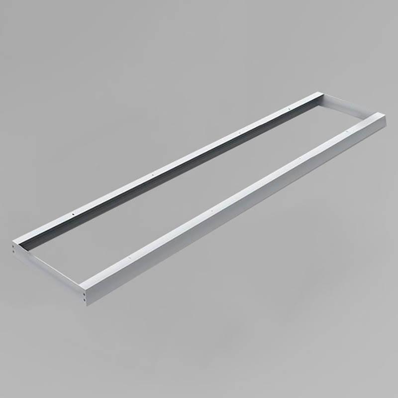 LED Panel Aufbaurahmen Classic 150x30cm silber Aufputz Montagerahmen