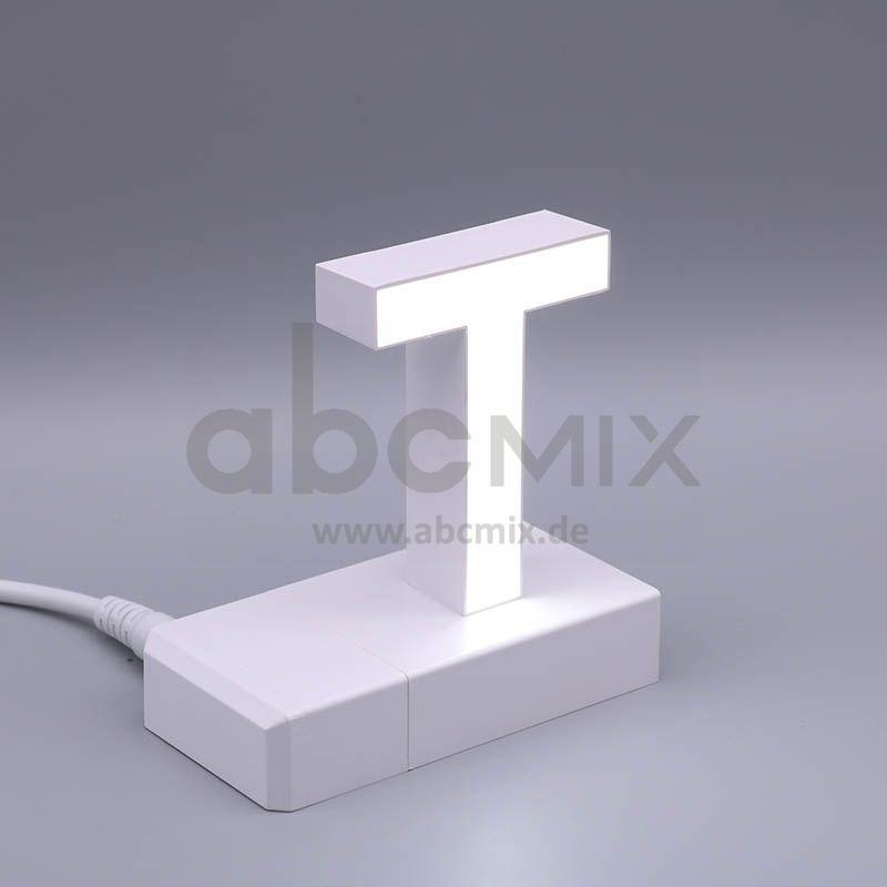 LED Buchstabe Klick T 75mm Arial 6500K weiß