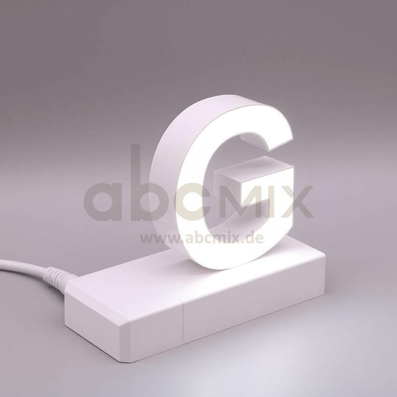 Leuchtbuchstabe EasyClick G 75mm Arial 4000K weiß