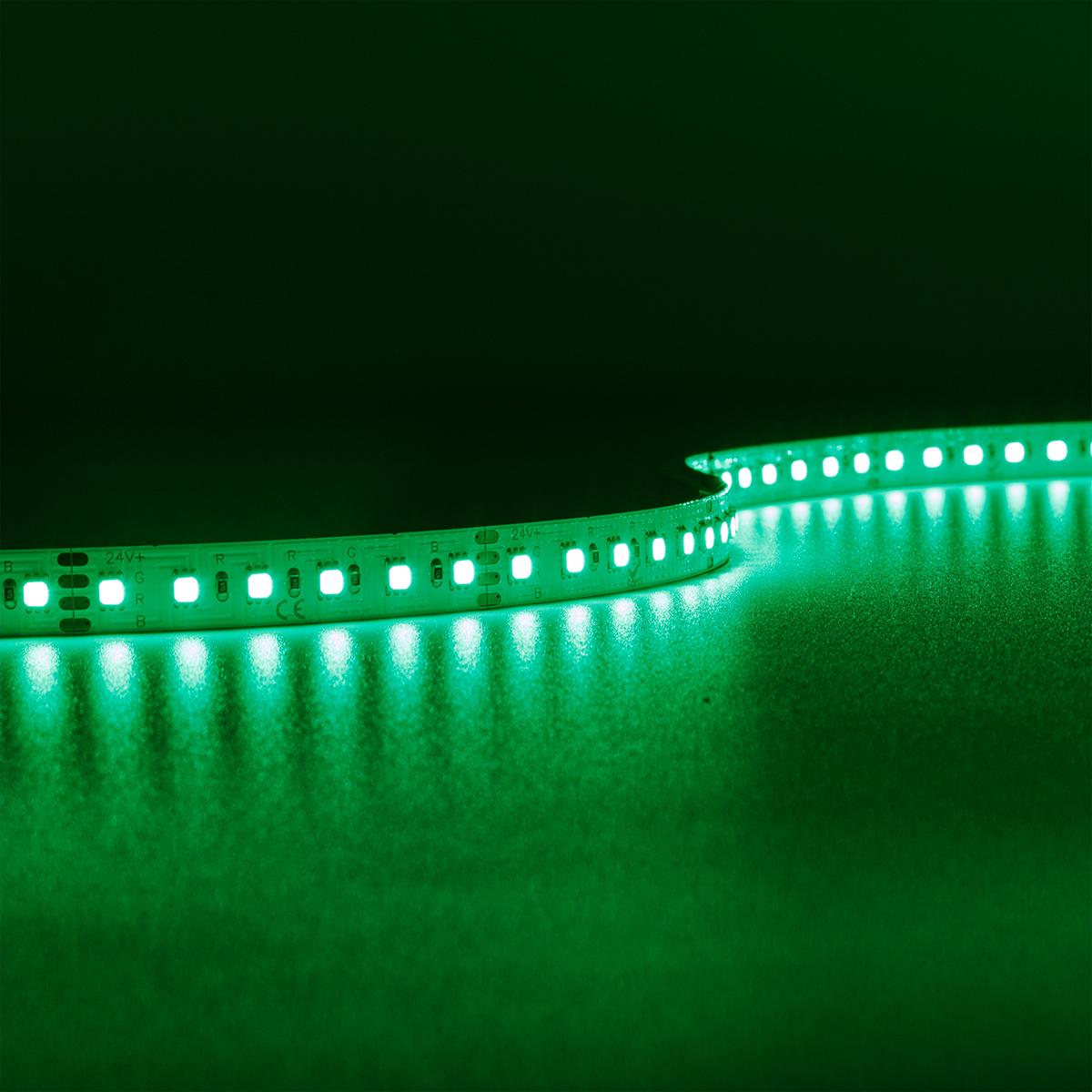 HighLumen RGB 24V LED Streifen 5M 18W/m 120LED/m 10mm IP20 Farbwechsel