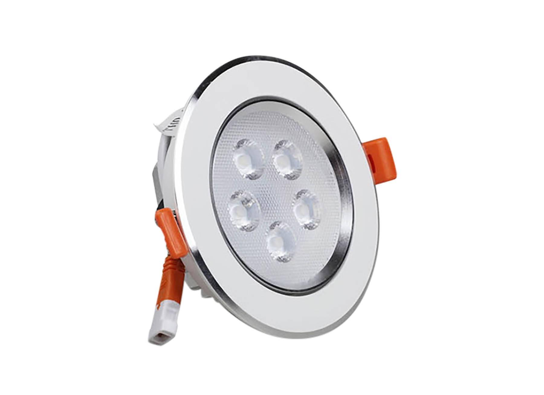 LED Einbaustrahler Spot silber 5W Ø109mm 3000K