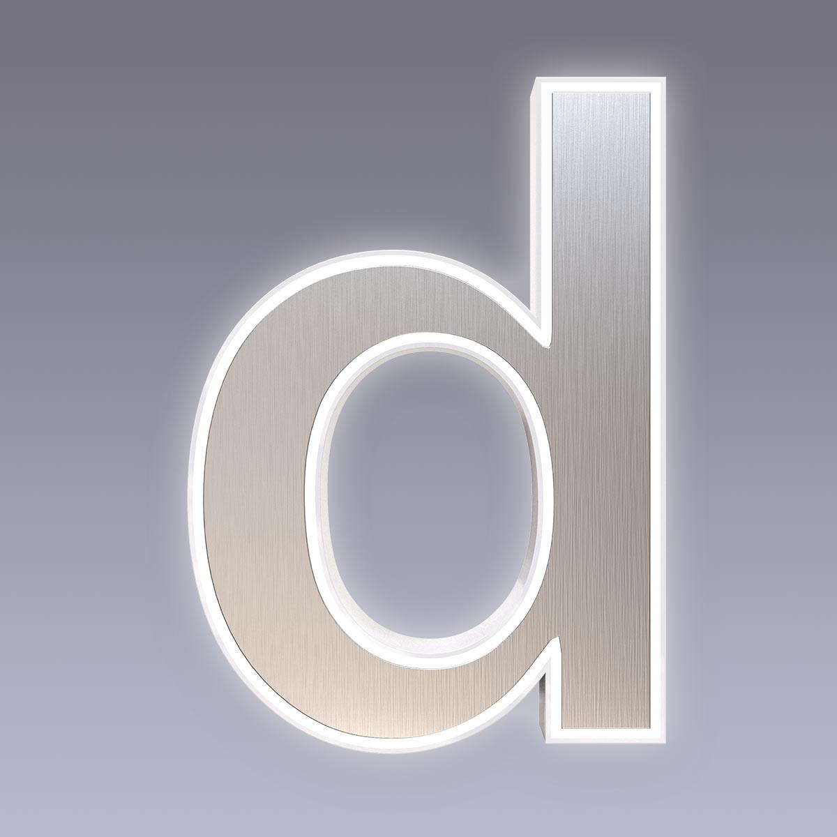 Cover für 15cm Hausnummer d Edelstahl Arial selbstklebend