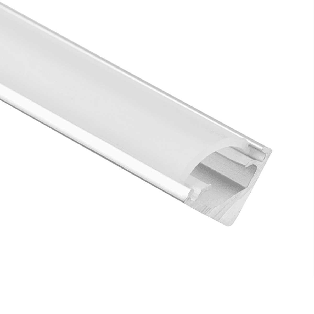 LED Eck-Profil eloxiert 8 x 8mm opal 200cm