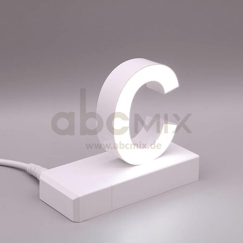Leuchtbuchstabe EasyClick C 75mm Arial 4000K weiß