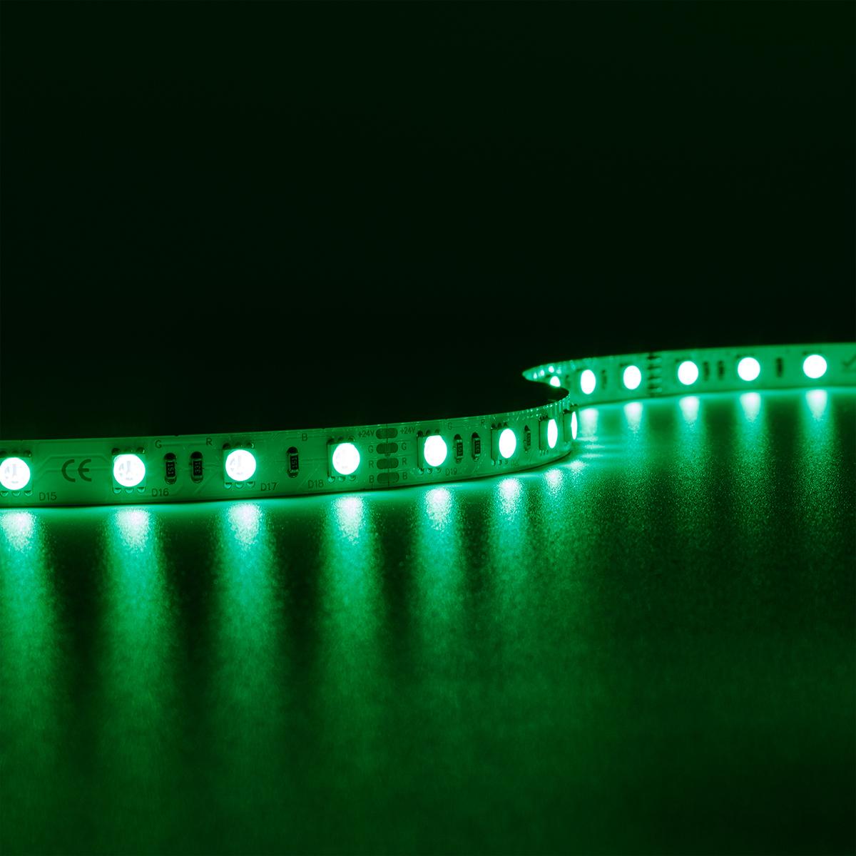 Strip RGB 24V LED Streifen 5M 14,4W/m 60LED/m 10mm IP20 Farbwechsel