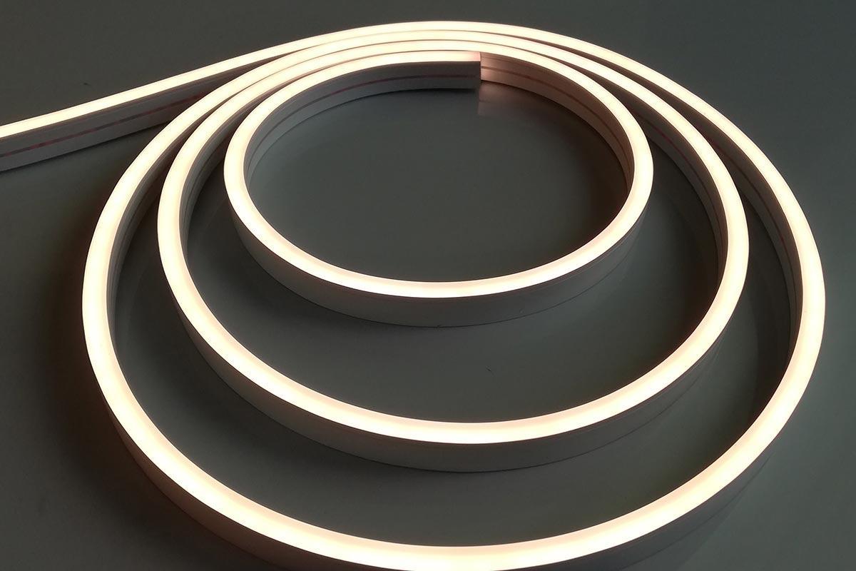 Neon Mini Warmweiß 24V LED Streifen 5M 12W/m 120LED/m 6mm IP66 3000K