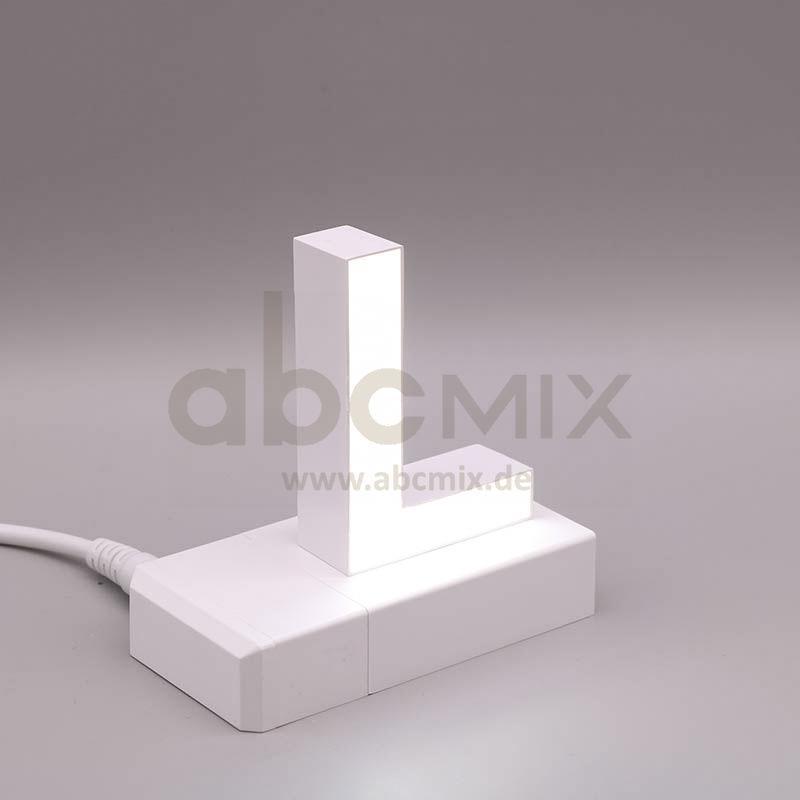 Leuchtbuchstabe EasyClick L 75mm Arial 4000K weiß