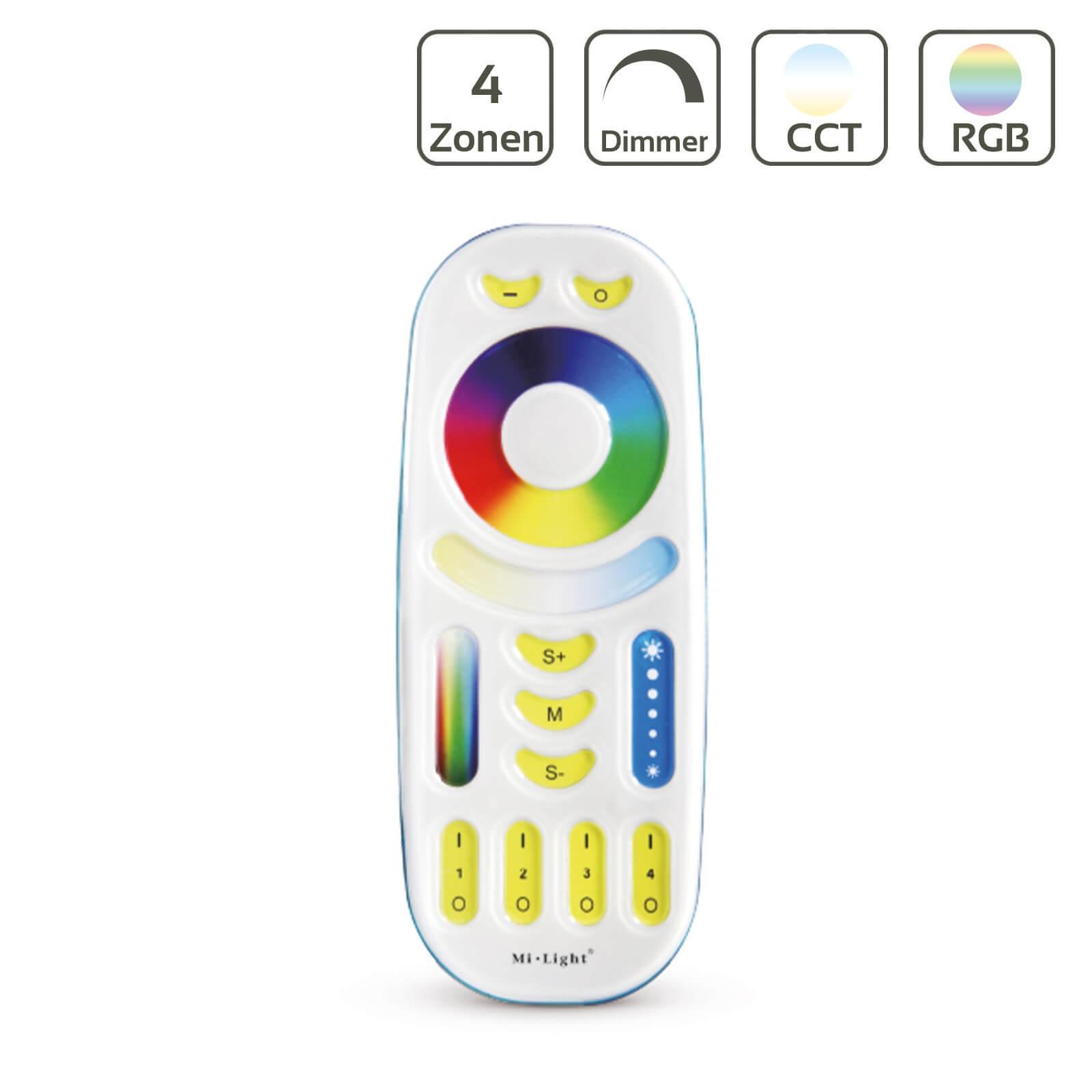MiBoxer RGB+CCT Fernbedienung 4 Zonen Dimmen Schalten Farbsteuerung FUT092