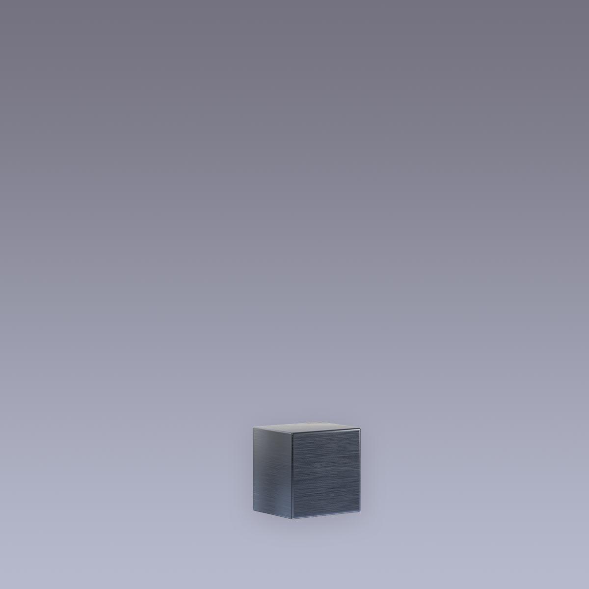 3D Hausnummer . Punkt Edelstahl anthrazit RAL7016 in 3D Design Arial