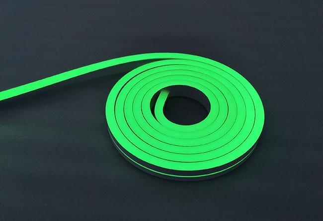 Neon Grün 24V LED Streifen 5M 10W/m 84LED/m 7mm IP65