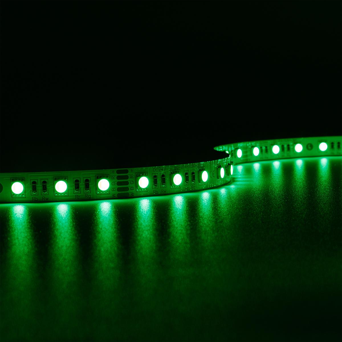 Strip RGBW 24V LED Streifen 5M 15W/m 60LED/m 12mm IP20 Farbwechsel RGB+3000K
