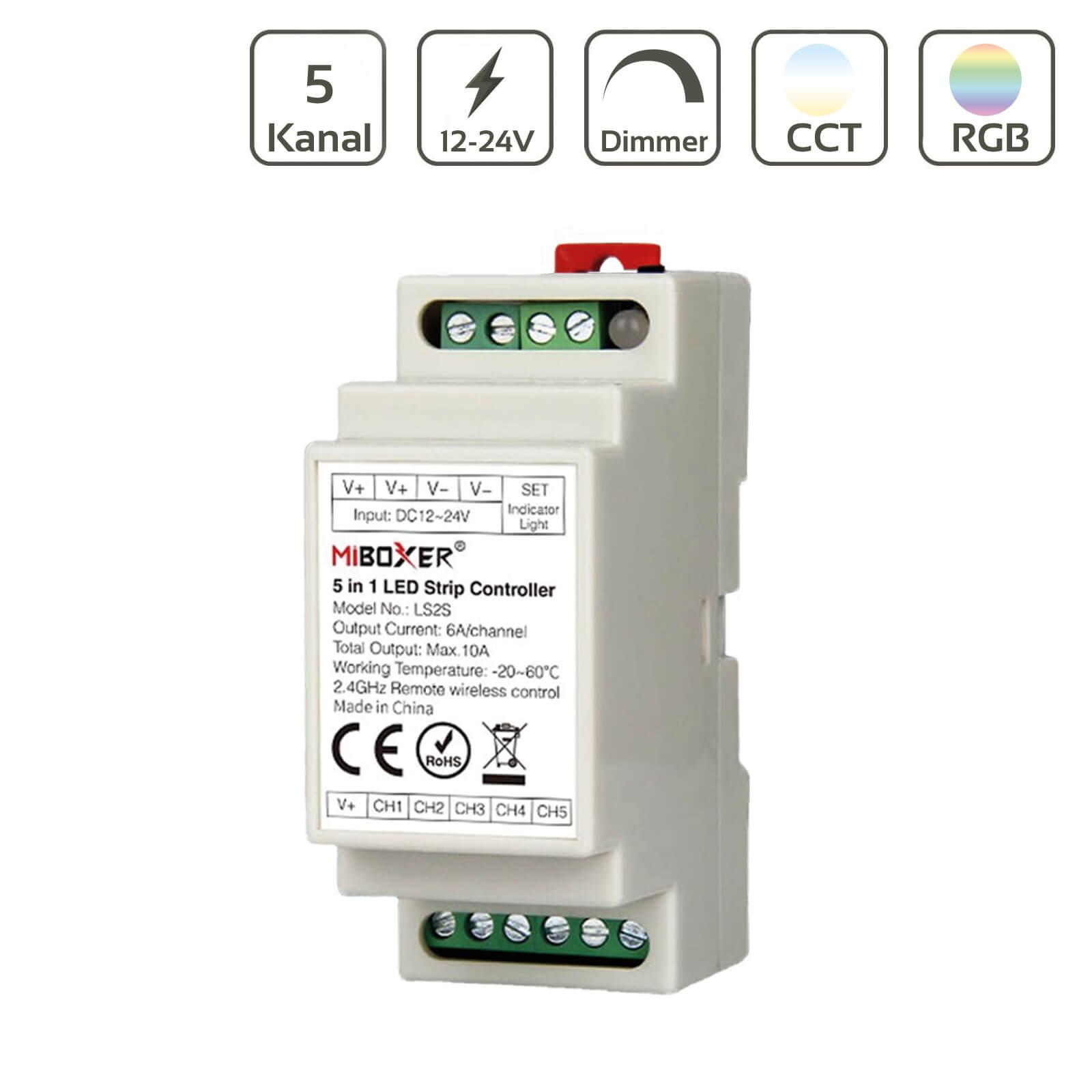 5in1 Smart Controller Hutschiene 2.4GHz WiFi ready