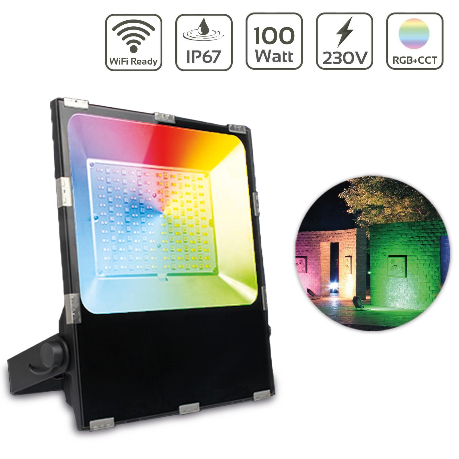 MiBoxer 100W RGB+CCT LED Außenstrahler WiFi Farbwechsel Fluter FUTT07