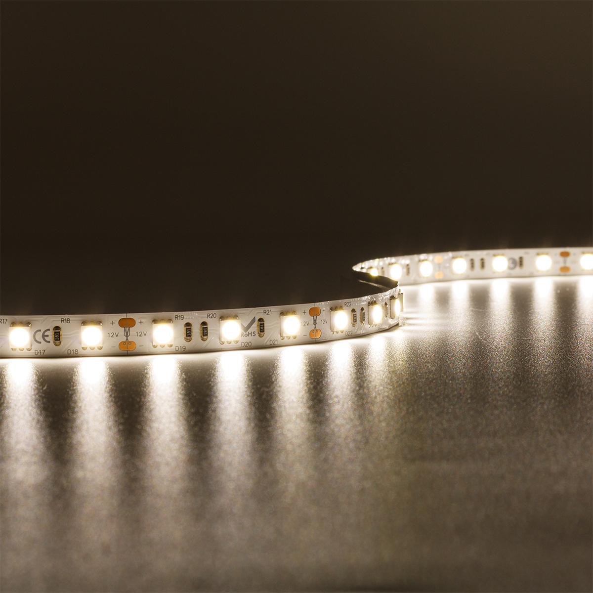 Strip Neutralweiß 12V LED Streifen 5M 14,4W/m 60LED/m 10mm IP20 4000K