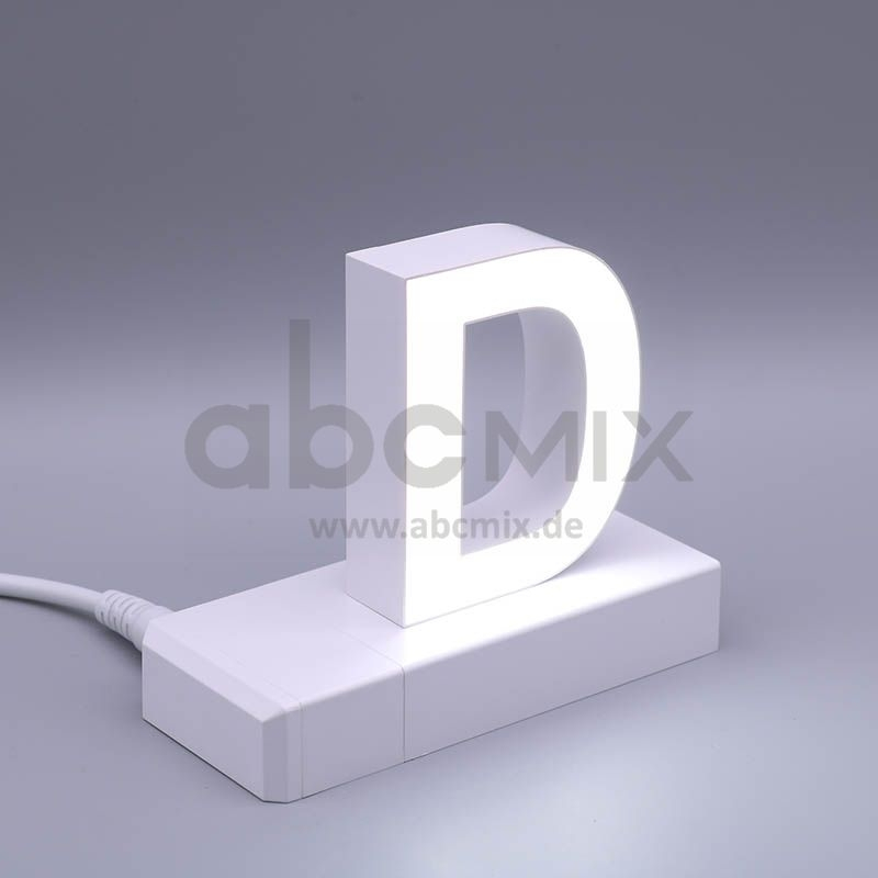 LED Buchstabe Klick D 75mm Arial 6500K weiß