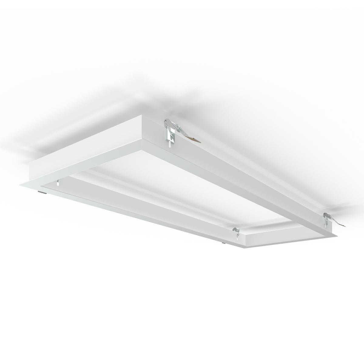 LED Panel Einbaurahmen 30x80cm weiß Deckeneinbau Montagerahmen für Rigipskartondecke