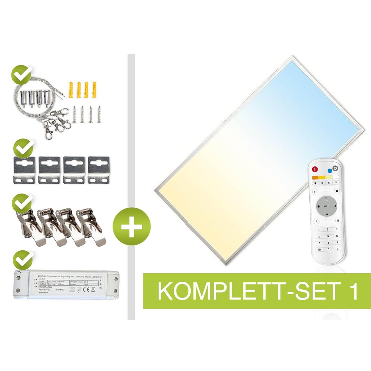CCT LED Panel Set 1 120x60cm 60W 3000K-6000K