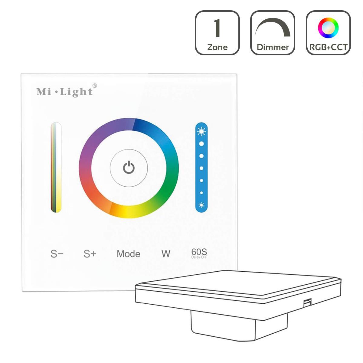 MiBoxer RGB+CCT Wandeinbau Controller 1 Kanal Dimmen Schalten Farbsteuerung 12-24V P3
