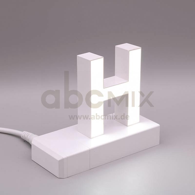 Leuchtbuchstabe EasyClick H 75mm Arial 4000K weiß