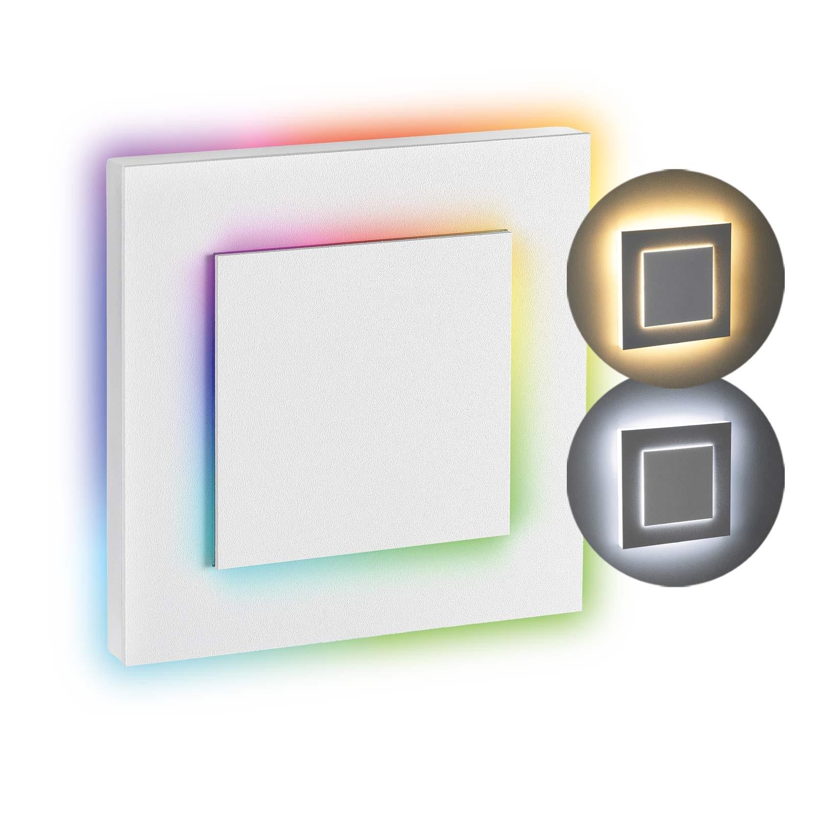 LED Stufenbeleuchtung Oberteil eckig, weiß | Seitlicher Lichtaustritt doppelt