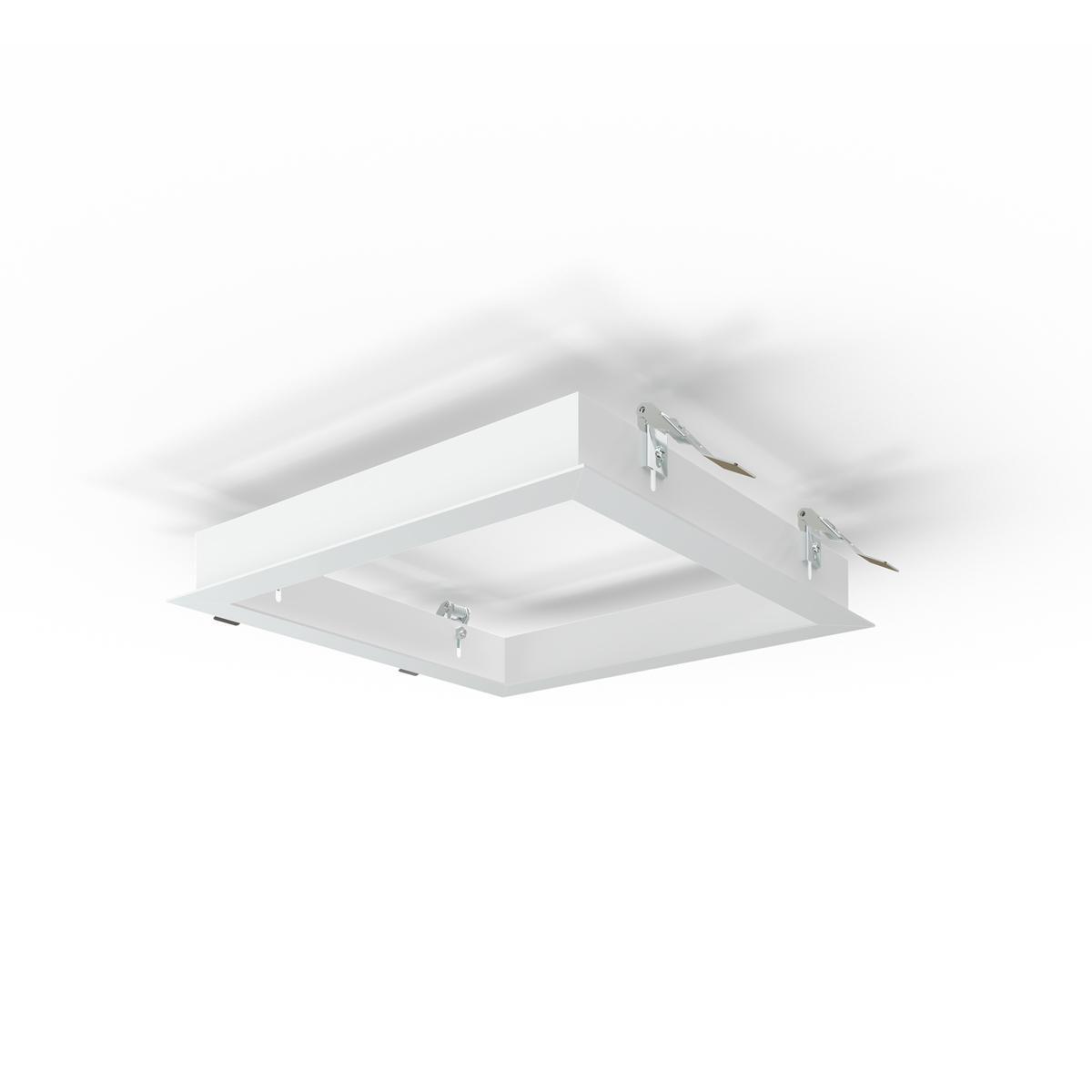 LED Panel Einbaurahmen 30x30cm weiß Deckeneinbau Montagerahmen für Rigipskartondecke
