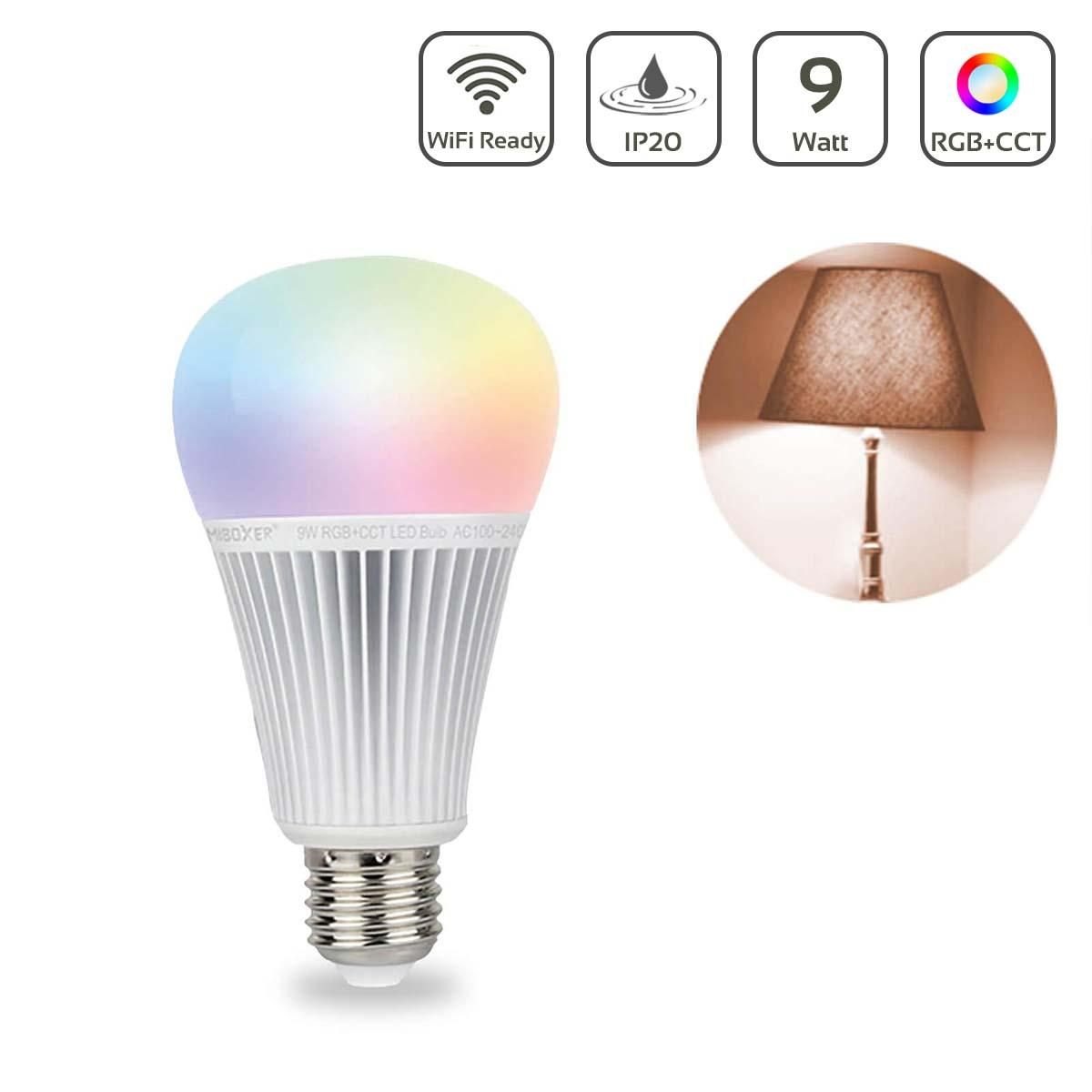 MiBoxer RGB+CCT Lampe 9W E27   2.4GHz WiFi ready   FUT012