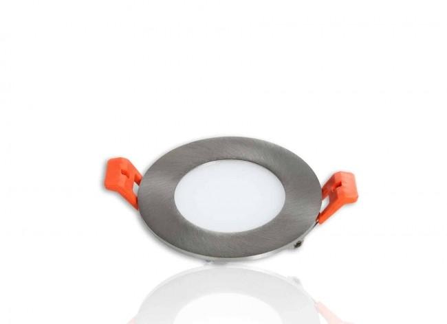 LED Panel Einbaustrahler silber 3W Ø85mm 5500K dimmbar