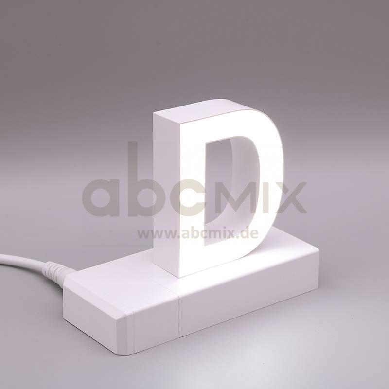 Leuchtbuchstabe EasyClick D 75mm Arial 4000K weiß