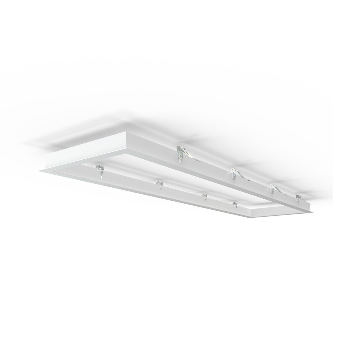 LED Panel Einbaurahmen 150x30cm weiß Deckeneinbau Montagerahmen für Rigipskartondecke