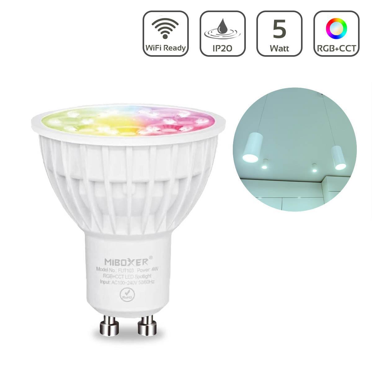 MiBoxer RGB+CCT LED Spot 4W GU10 | WiFi ready | FUT103